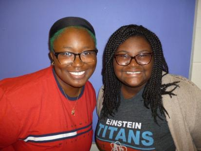 Marian Conteh and Ebonie Gadson ( Go2College and STEM Programs)